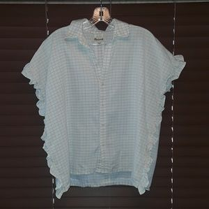 Madewell oversized Central shirt w/ruffle size S